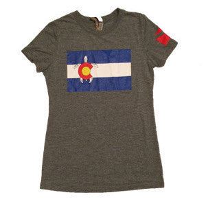 Ladies Colorado Turtle T-Shirt - Colorado Ocean Coalition