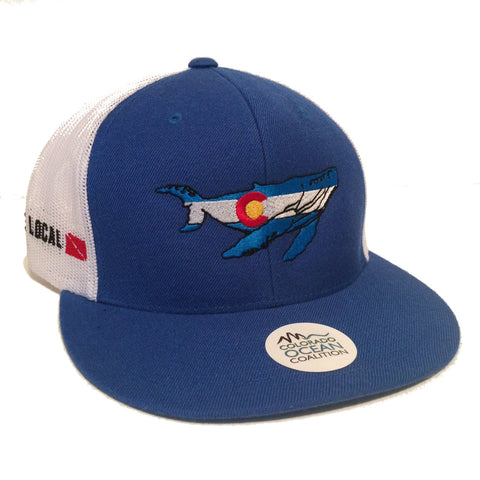 Colorado Whale Trucker Hat - Colorado Ocean Coalition