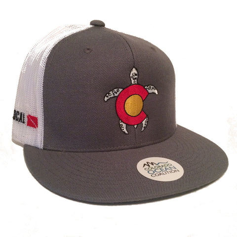 Colorado Turtle Trucker Hat - Colorado Ocean Coalition