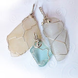 sea glass jewelry pendants handmade ooak