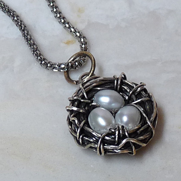 Tutorial - Bird's Nest Wire Wrapped Pendant DIY jewelry