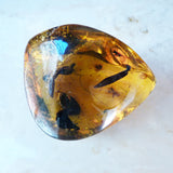 Amber sent by client for custom wire wrapped setting