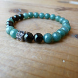 Green black Handmade Gemstone Bracelets unisex jewelry