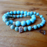 2 Men's Handmade Gemstone Bracelets Turquoise jewelry