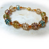 Mardi Gras Wired Crystal Bracelet