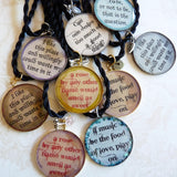 Assorted Resin Shakespeare Quote Pendants-Food of Love