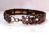 Copper Waves Wire Wrapped Bracelet