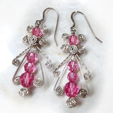 Pink Ice Sterling Earrings