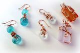 Recycled jewelry made from bottle glass and copper