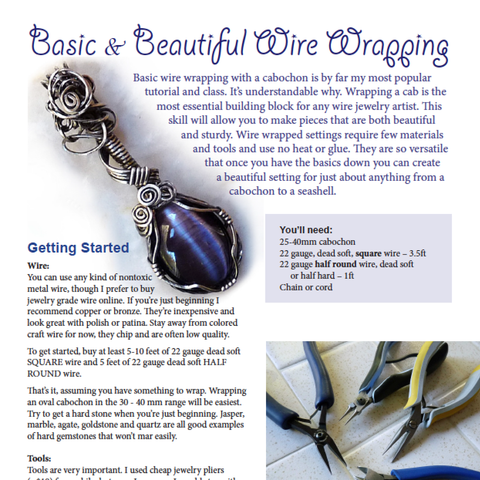 Basic & Beautiful Wire Wrapped Pendant Tutorial