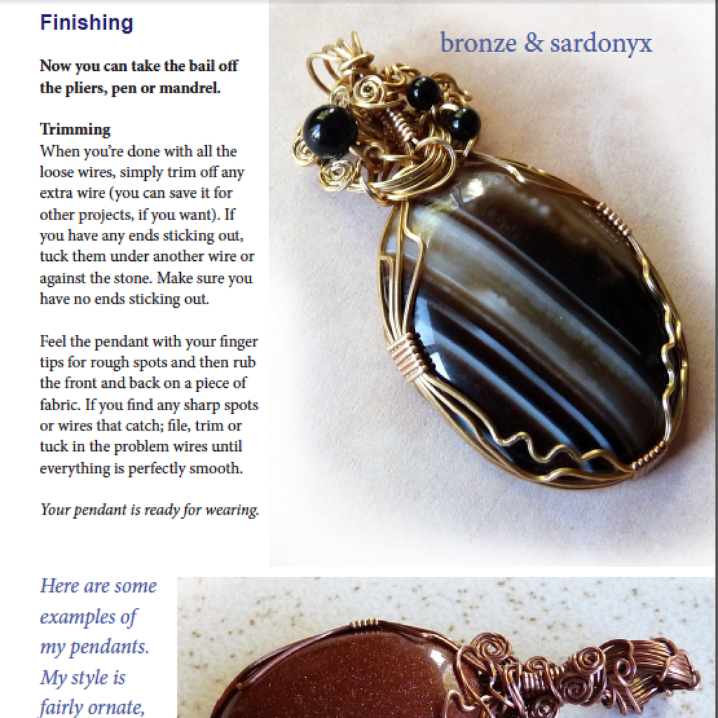 Basic & Beautiful Wire Wrapped Pendant Tutorial – Rhonda Chase Design