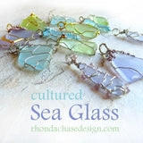 Handmade Gifts for women sea glass pendants silver, gold, OOAK