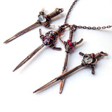 Jewel Sword Cosplay Handmade Mens Pendant Jewelry Necklace