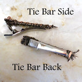side and back off handmade wire wrapped tie bar tie clip