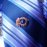 mens jewelry scarab tie tack shown on tie for suit