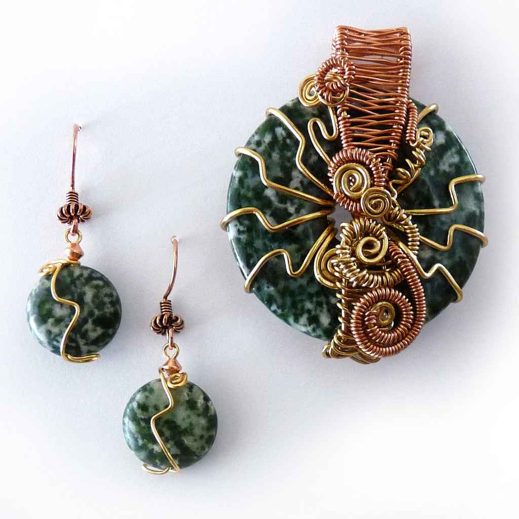 Tree Agate Wire Weave Donut Pendant – Rhonda Chase Design