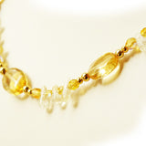 yellow and gold Petite Citrine Beaded Necklace