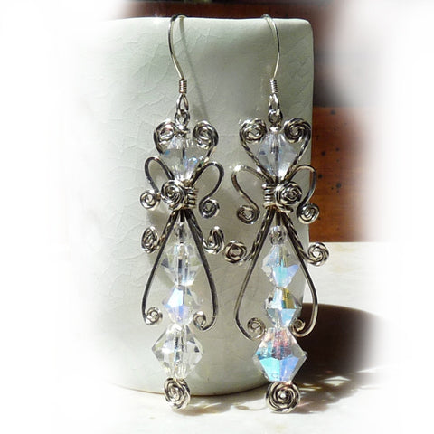 Sterling Crystal Earrings