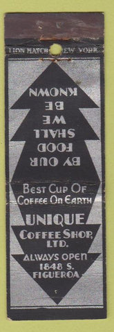 Matchbook Cover - Unique Coffee Shop Los Angeles CA WEAR