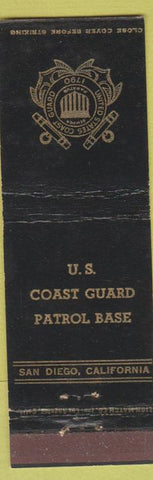 Matchbook Cover - US Coast Guard Patrol Base San Diego CA