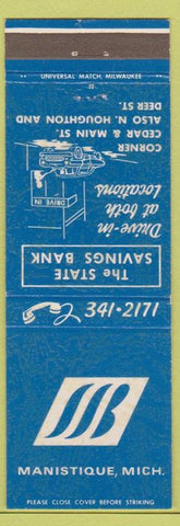 Matchbook Cover - State Savings Bank Manistique MI