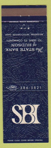 Matchbook Cover - State Bank of Hudson WI