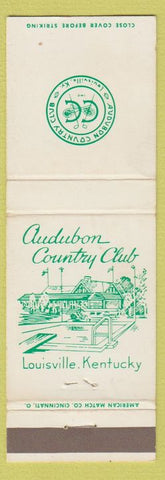 Matchbook Cover - Audubon Country Club Louisville KY WEAR