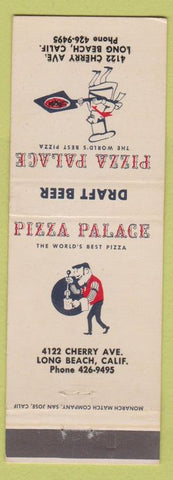 Matchbook Cover - Pizza Palace Long Beach CA