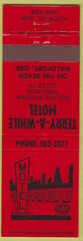 Matchbook Cover - Terry A While Motel Waldport OR