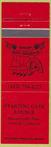 Matchbook Cover - Starting Gate Lounge Antioch CA