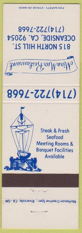Matchbook Cover - Mira Mar Restaurant Oceanside CA