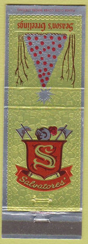 Matchbook Cover - Salvatores' Anaheim Downey Paramount CA Christmas