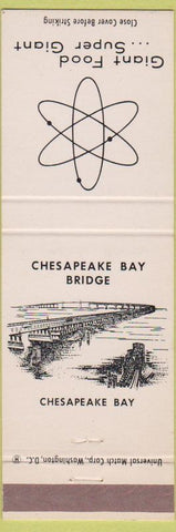 Matchbook Cover - Giant Food Grocery Store Chesapeake Bay Bridge