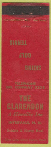 Matchbook Cover - The Clarendon Inn Intervale NH