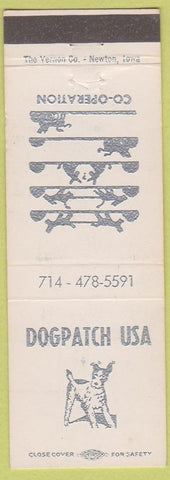 Matchbook Cover - Dogpatch USA NO TOWN