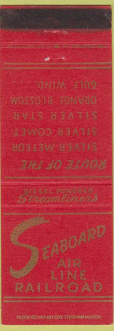 Matchbook Cover - Seaboard Railroad