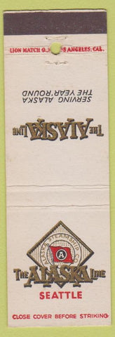 Matchbook Cover - The Alaska Shipping Line Seattle