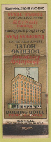 Matchbook Cover - Doering Hotel Temple TX