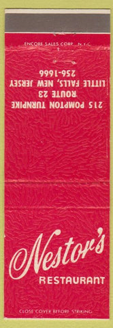 Matchbook Cover - Nestor's Restaurant Little Falls NJ