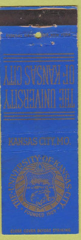 Matchbook Cover - University of Kansas City MO Federal