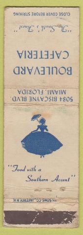 Matchbook Cover - Boulevard Cafeteria Miami FL girlie WORN