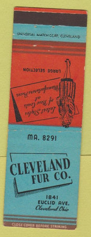 Matchbook Cover - Cleveland Fur Co OH girlie