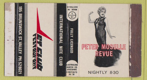 Matchbox Label - Peter Moselle Revue Cross Dressing Nite Club Australia girlie?