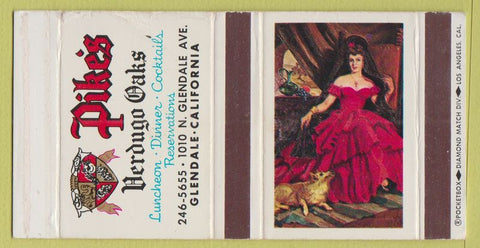 Matchbox Label - Pike's Verdugo Oaks Glendale CA girlie WEAR
