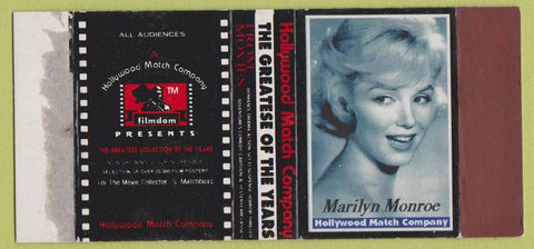 Matchbox Label - Marilyn Monroe Hollywood Match black and white girlie