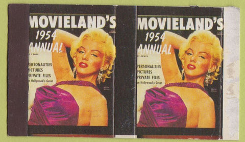 Matchbox Label - Marilyn Monroe Movie Review 1954 reproduction