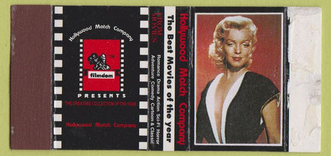 Matchbox Label - Marilyn Monroe Hollywood Match girlie