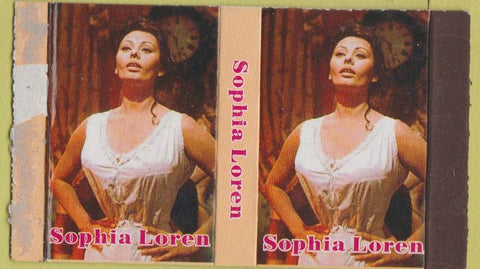 Matchbox Label - Sophia Loren girlie movie star