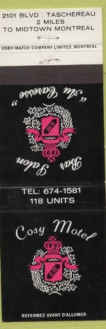 Matchbook Cover  Cosy Motel Montreal QC