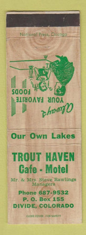 Matchbook Cover - Trout Haven Cafe Motel Divide Colorado